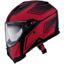Caschi rosso con visiera antigraffio per la guida di veicoli taglia XXL