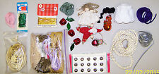 Big Lot Bunch Of Craft Stuff Apple Bells, Other Bells, Trims And More