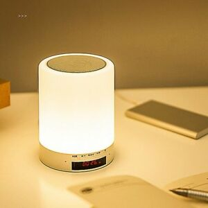 Dimmable Touch LED Table Lamp Multinational Rechargeable Cable Bluetooth Speaker