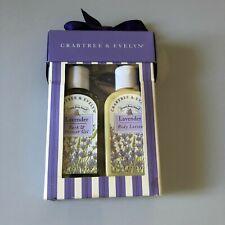 Crabtree & Evelyn Lavender Bath & Shower Gel & Body Lotion Set 5.1oz Each