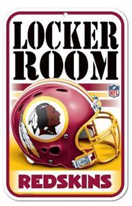 """WASHINGTON REDSKINS LOCKER ROOM 11""""X17"""" PLASTIC SIGN DURABLE POSTER NFL LICENSED"""