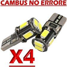 4 Lampade Lampadine LED T10 HID 6 SMD Canbus NO ERRORE 5630 BIANCO Posizione W5W