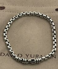 Men's David Yurman 925 Sterling Silver Box Chain 5mm Bracelet 8""