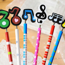 2pcs Novelty Musical Note Wooden Pencils Kawaii Stationery Children Praize Gift