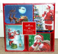 Hallmark Christmas Holiday Cards Box of 40 Nib 4 Style of Santa
