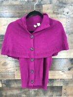 Moth Anthropologie Women's Purple Button Front Shrug Sweater Top Size M