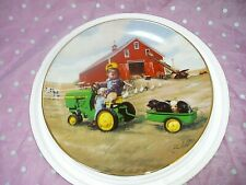 "Nib, ""Danbury Mint Little Farmhands Tractor Ride Collector'S Plate"", John Deere"
