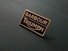 A QUALITY HARD ENAMEL  BARBOUR TRIUMPH MOTORCYCLE  JACKET  PIN BADGE