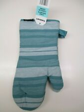 Cuisinart set of 2 oven mitts in aqua sky striped 100% cotton