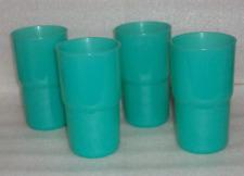 Tupperware Essentials Tabletop Tumblers Teal Cups 12-oz Brand New Set