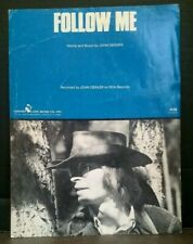 Follow Me Sheet Music Cover Art John Denver Piano Lyrics Guitar 70s Country F1Ac