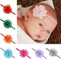 1 Pcs Chiffon Blume Haar Band Stirnband Elastische Infant für Baby Mädchen D6F5