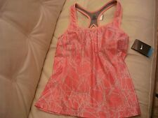 NEW WT Nike Tank Top Peach Coral LARGE Bra Top 516967 893 Tennis Yoga Running