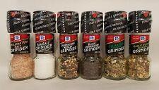 McCormick Spice Grinders ASST of 6 Himalayan Pink Salt, Sea Salt, Peppercorn ETC