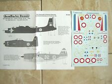 "B-26C INVADER/F8 BEARCAT/P-47D ""3 FRENCH/INDOCHINA"" AEROMASTER DECALS 1/48"
