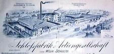 SAG Schloßfabrik - AG vorm W. Schulte Velbert hist Aktie 1932 Schulte-Schlagbaum