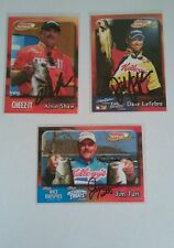 LOT OF 3 SIGNED ANGLER BASS FISHING KELLOGGS PRO TEAM DAVE LEFEBRE JIM TUTT FLW