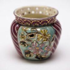 Zsolnay Pecs Hungary 3317/00/31 Small Cache Pot ca 1889-1891