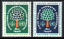 UN NY 81-82, MNH. World Forestry Congress. Tree, FAO, un Emblems, 1960