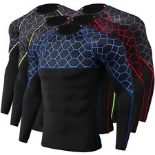 Mens Sport Compression Running Gym Tight Tee Tops Long Sleeve Base Layer Shirts