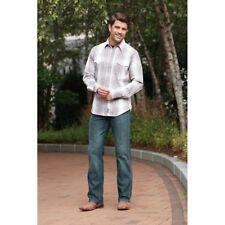 Wrangler Men's Retro Brown & White Poplin Long Sleeve Snap Up Shirt MVR384M