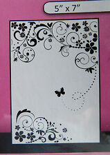 "Crafts-Too/CTFD3101/Embossing /Folder/Summer Days Flowers Butterfly 5"" x 7"""