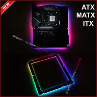 NEW RGB Backplate For TX MATX ITX Gaming Motherboard RGB Back Light Aura Sync