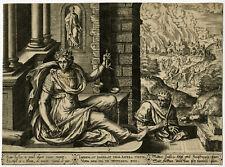 Antique Master Print-ALLEGORY-LADY JUSTICE-NERO-ROME-Collaert the Elder-1576