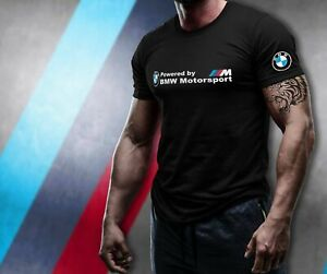 BMW MOTORSPORT Black T-Shirt 100% Cotton size XS-5XL