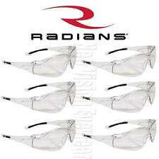 6 Pair Radians Sonar Clear Lens Frost Safety Glasses Shooting Work Z87.1