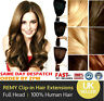 """Remy Clip In 100% Real Human Hair Extensions DIY Full Head 8pcs 18"""" 20"""" 22"""""""
