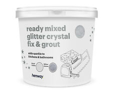 Hemway paillettes coulis Ready Mixed 4.5 Kg Gris Clair/Silver Glitter