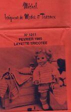 ▬► PATRON Poupée modèle Couture Tricot - Michel Baigneur Layette N°1106 1985
