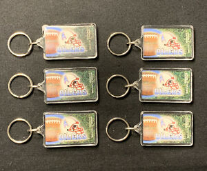 HOUSTON OILERS 1995 NFL KEY CHAINS MADE IN USA BY WINCRAFT LOT OF 6