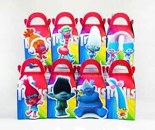 TROLLS PARTY FAVOUR BOXES KIDS BIRTHDAY LOLLY LOOT BAGS SUPPLIES DECORATIONS