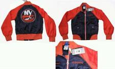RBK NEW YORK ISLANDERS WOMEN'S SHINY SATIN JACKET SMALL
