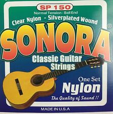 Sonora Classical Guitar Strings Ball End Nylon.  Juego De Cuerdas Para Guitarra