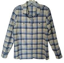Ibex Taos Wool Plaid Shirt Womens Medium New Snap Button