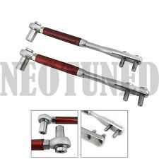 RED FOR 240SX S13 S14 300ZX Z32 HIGH ANGLE HA TENSION ADJUSTABLE ARM SUSPENSION