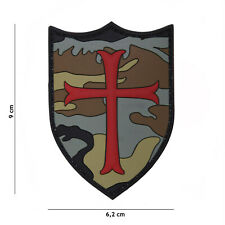 Crusader woodland #19051 Patch Klett Abzeichen Airsoft Paintball Softair