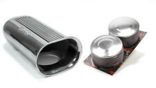 Blower Drive Service Polished Aluminum Dual Carb Scoop w/Air Filters