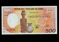 Congo:P-8a,500 Francs,1985 * Statue * UNC *