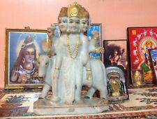 Datta Shiva Statue Marble Antique Sculpture 5.2 kilos India Ganesha Hindu Brahma