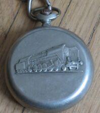 RUSSIAN POCKET WATCH Molniya RAILWAY Clock Railroad Antique USSR VTG Chain Old V