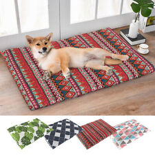 Pet Cat Dog Bed Soft Warm Cushion Sleep Mat for Kennel Crate w/ Removable Cover