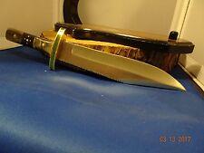 "Trophy Stag Cutlery Model # Ts-156 14""440Hc S.S. Buffalo& Rams Horn Handle Wow"