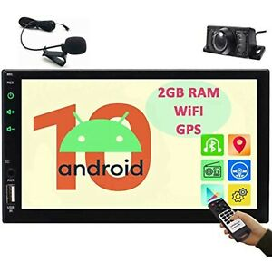 """Quad 4 Core Android 10.0 16GB 7"""" Double 2DIN Car GPS Navigation Stereo Radio Cam"""