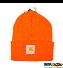 Carhartt Mens Acrylic Watch Hat A18 Rib Knit Beanie Cap Warm Ski (NWT All Color)