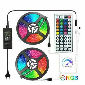 LED Strip 5050 2835 LED Lights 5M 10M 15M LED Strip 44Key RGB Controller