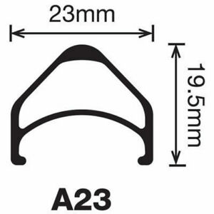 Velocity Rim A23 700C Black Non-Machined Sidewalls 32H